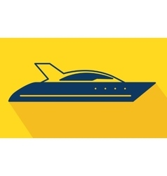 yacht logo icon vector image