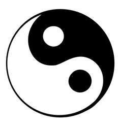 ying yang icon cartoon vector image