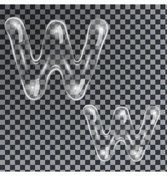 Bubbles letters W vector image