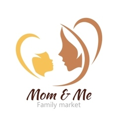 Logo mother and her baby Healthcare or baby shop vector image vector image