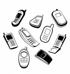 mobile phones vector image vector image