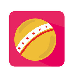plastic ball toy icon vector image vector image