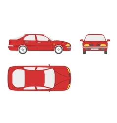 Red car on a white background vector