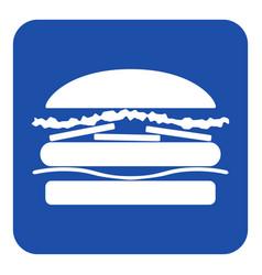 blue white information sign - hamburger icon vector image vector image