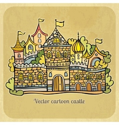 Cartoon fairy-tale castle vector image