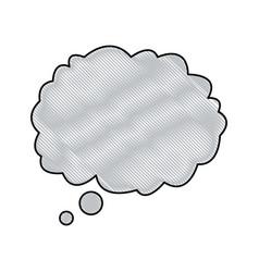 drawing cloud speech talking dream vector image