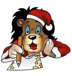 Christmas Lion vector image