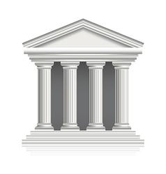 greek temple vector image vector image