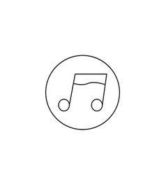music note icon vector image vector image