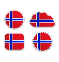 Norway flag labels vector image