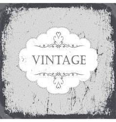 vintage grunge card monochrome vector image