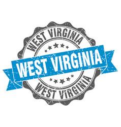 west virginia round ribbon seal vector image vector image