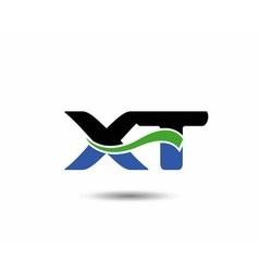 XT logo vector image vector image