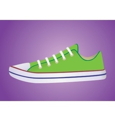 banner with sneakers vector image