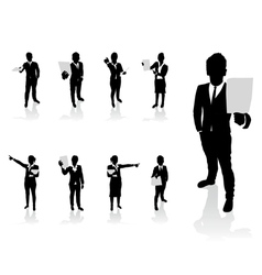 business people paper vector image vector image
