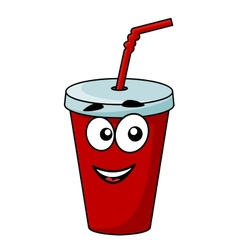 Cartoon takeaway soda drink vector image vector image