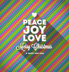 Christmas greeting with long shadow vector image vector image