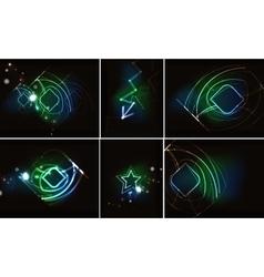 Dynamic wave in dark space vector image