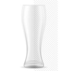 glass for beer transparent stock vector image