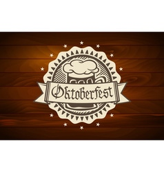 oktoberfest Retro styled label of pub or craft vector image