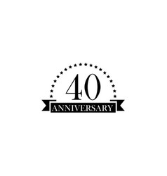 40 anniversary sign element of anniversary sign vector image