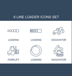 6 loader icons vector