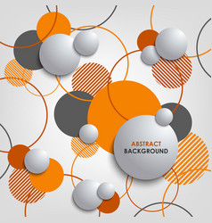 abstract background with orange circles and vector image
