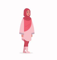 Arabic woman in hijab arab girl wearing headscarf vector