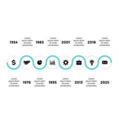 arrows semicircles timeline infographic vector image