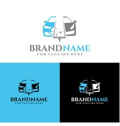 auto clean logo template vector image