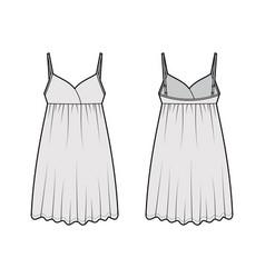 Babydoll dress sleepwear pajama technical fashion vector