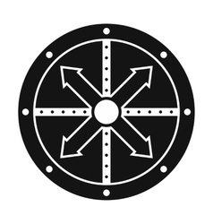 Black shield icon vector image