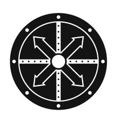Black shield icon vector