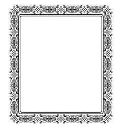 Black vintage frame vector