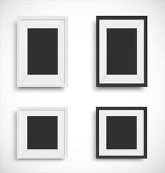 Blank picture frame set vector image