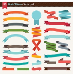 Blank ribbons vector