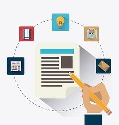 Blogger digital design vector image