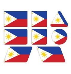 Buttons with flag of Philippines vector