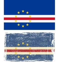 Cape Verde grunge flag vector image