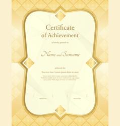 Certificate appreciation template in vector