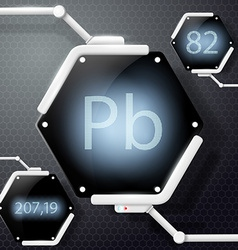 chemical element lead vector image