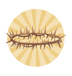 christ thorns crown vector image