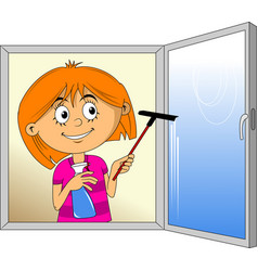 clean the window vector image