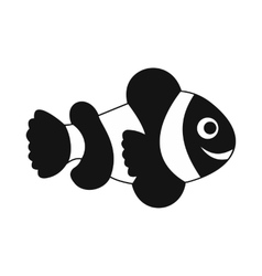Clownfish flag icon simple style vector