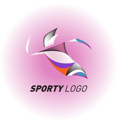 Colorful dynamic sport logo and icon sport event vector