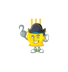 Cool one hand pirate chinese gold incense with hat vector