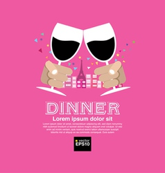 Dating Dinner Concept EPS10 vector image