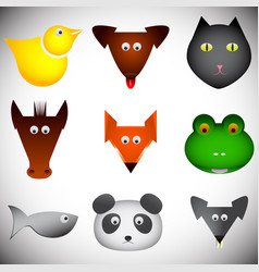 Different abstract animals set vector