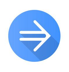 Double-lined arrow flat design long shadow glyph vector