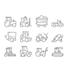 farm transport agricultural heavy machines vector image